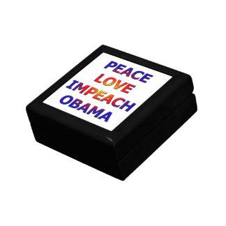 Peace Love Impeach Obama Gift Box