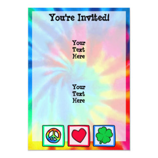 Peace, Love, Irish 13 Cm X 18 Cm Invitation Card