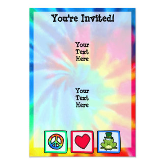 Peace, Love, Irish Frog 13 Cm X 18 Cm Invitation Card