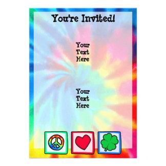 Peace, Love, Irish Custom Invites