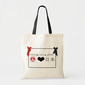 PEACE.LOVE.JAPAN TOTE BAG