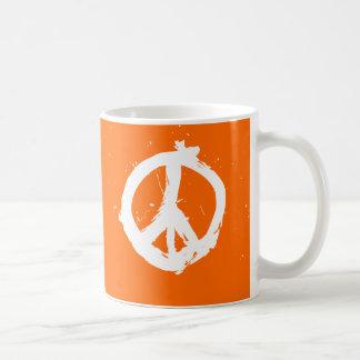 Peace. Love. Java. Mug - Orange