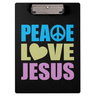Peace Love Jesus Clipboards