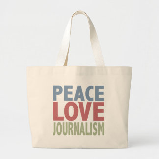 Peace Love Journalism Canvas Bags