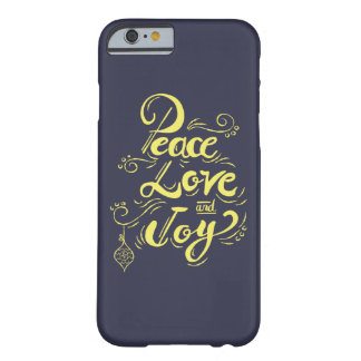 """Peace Love Joy"" Christmas (blue) - Xmas gifts Barely There iPhone 6 Case"