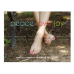 Peace Love Joy Christmas Family Photo Colourful