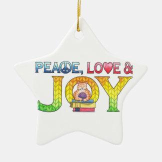 Peace, Love & Joy Christmas Ornament