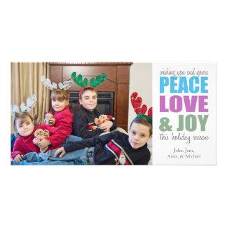Peace Love & Joy Christmas Photocards Photo Cards