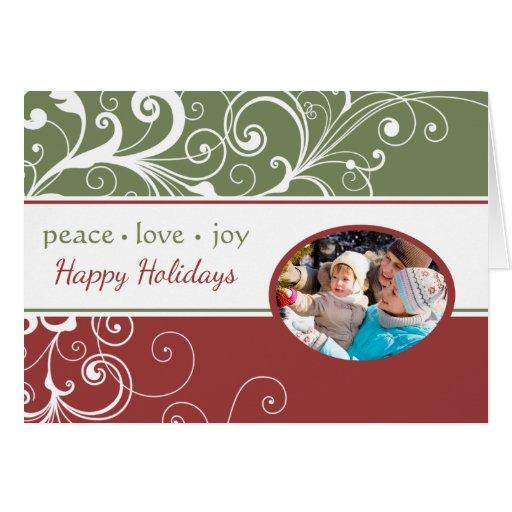 PEACE LOVE JOY Folded Holiday Card
