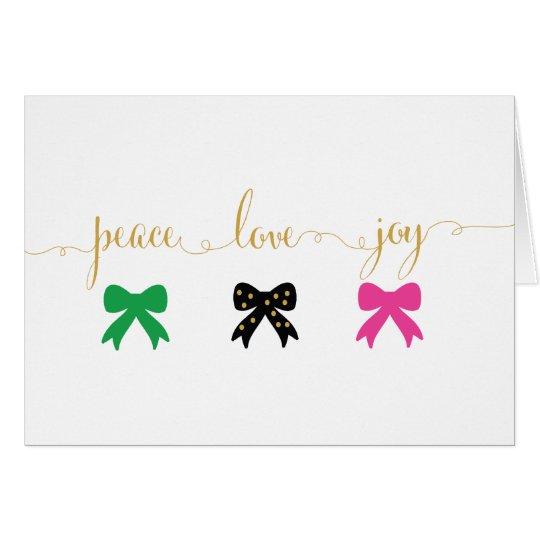 Peace, Love, Joy - holiday card
