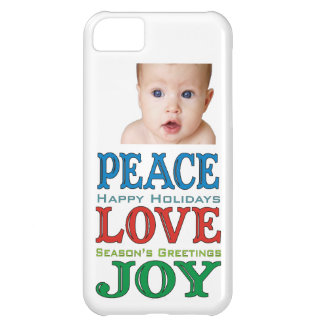 Peace Love Joy Holiday iPhone Case 5/5C/5S/4 iPhone 5C Case
