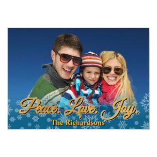 Peace Love Joy Holiday Personalized Photo Card 13 Cm X 18 Cm Invitation Card