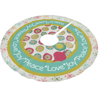 Peace Love Joy Holiday Tree Skirt