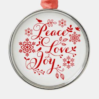 Peace, Love, Joy, Merry Christmas Christmas Tree Ornament