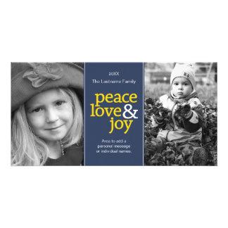Peace Love Joy Photo Card