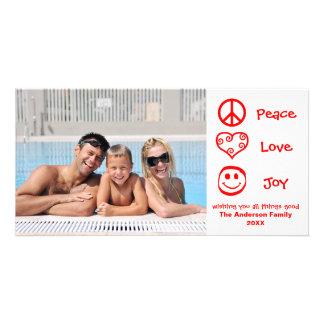 Peace, Love, Joy - Photocard Photo Cards