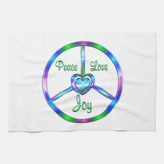 Peace Love Joy Tea Towel