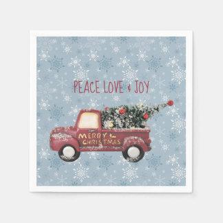 Peace Love & Joy Toy Truck Merry Christmas Disposable Napkins