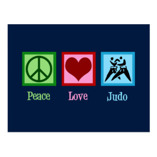 Peace Love Judo Postcard