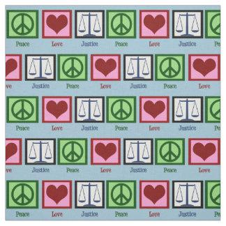 Peace Love Justice Fabric