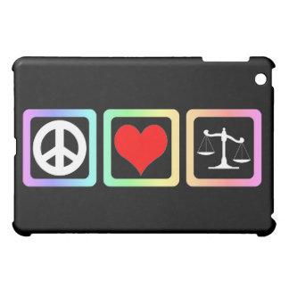 Peace love justice case for the iPad mini