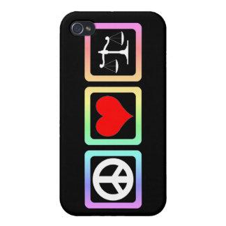 peace love justice iPhone 4 case