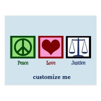 Peace Love Justice Postcard