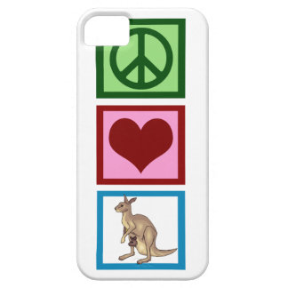 Peace Love Kangaroos Case For The iPhone 5