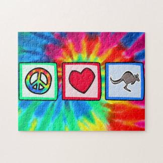 Peace, Love, Kangaroos Jigsaw Puzzles