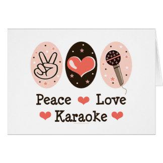 Peace Love Karaoke Blank Card