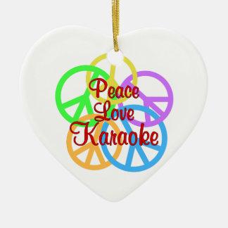 Peace Love Karaoke Ceramic Ornament