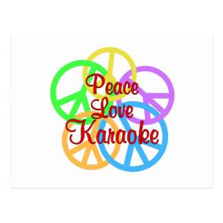 Peace Love Karaoke Postcard