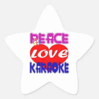 Peace Love Karaoke Sticker