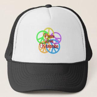 Peace Love Karaoke Trucker Hat