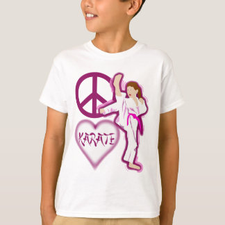 Peace Love Karate Girl Customize Personalized T-Shirt