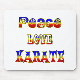 Peace Love Karate Mouse Pad