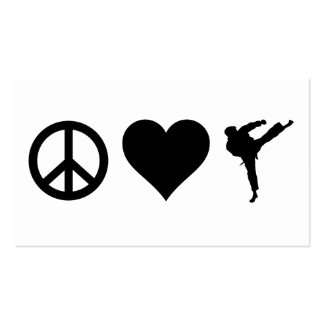 Peace Love Karate Pack Of Standard Business Cards