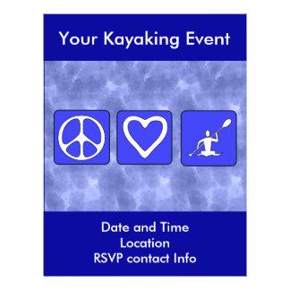 Peace Love Kayaking Full Color Flyer