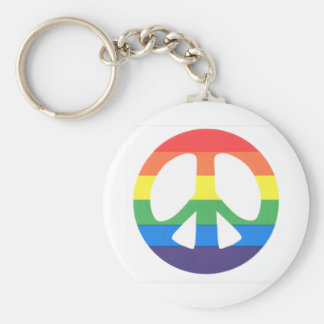 Peace love key ring