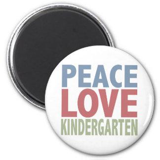 Peace Love Kindergarten 6 Cm Round Magnet
