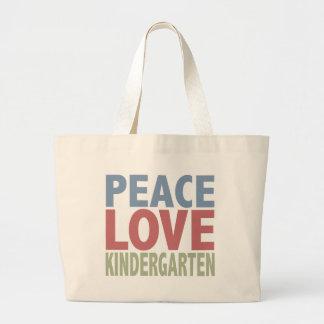 Peace Love Kindergarten Jumbo Tote Bag