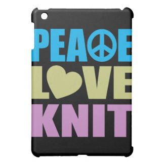 Peace Love Knit iPad Mini Cover