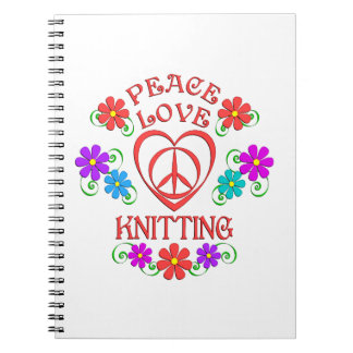 Peace Love Knitting Notebook