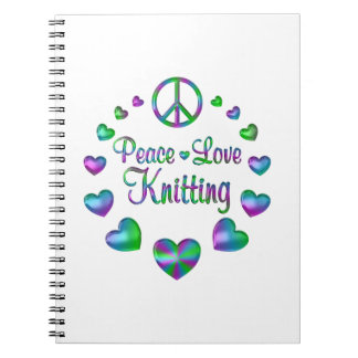 Peace Love Knitting Notebooks