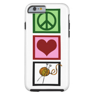 Peace Love Knitting Tough iPhone 6 Case