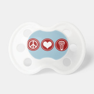 Peace Love Lacrosse Baby Pacifier - Boy's Blue