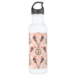 Peace Love Lacrosse BPA Free 710 Ml Water Bottle