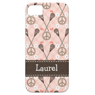 Peace Love Lacrossse iPhone 5 Cases