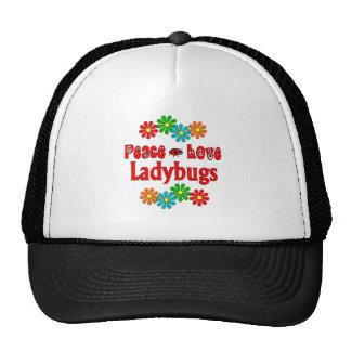 Peace Love Ladybugs Mesh Hat