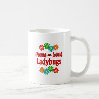 Peace Love Ladybugs Mug